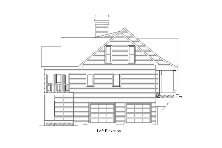 163-1056: Home Plan Left Elevation