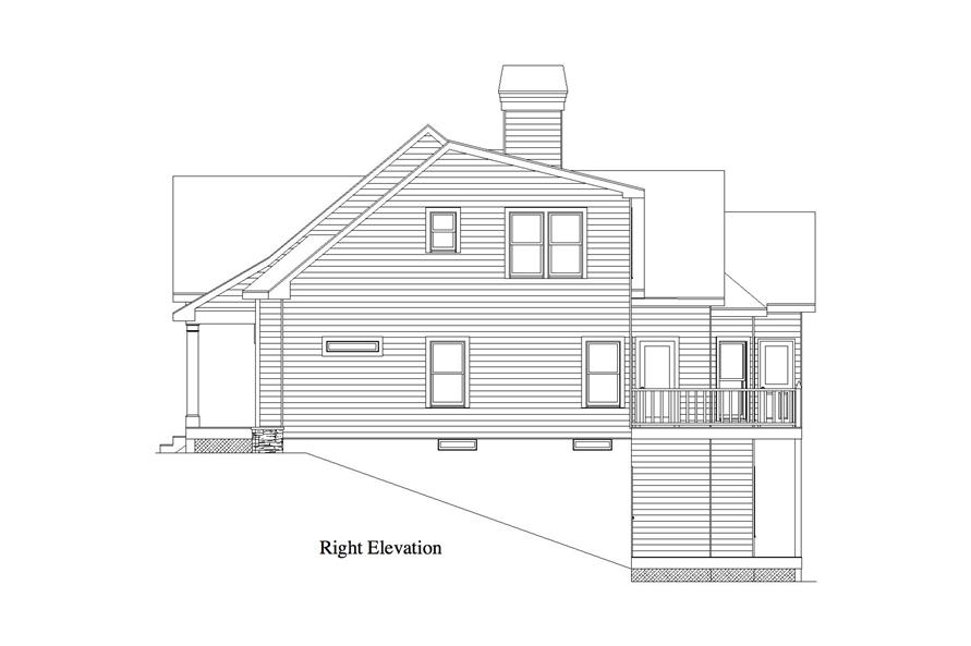 163-1056: Home Plan Right Elevation