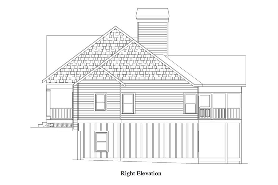 163-1058: Home Plan Right Elevation