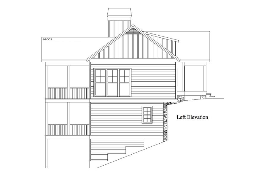163-1060: Home Plan Left Elevation
