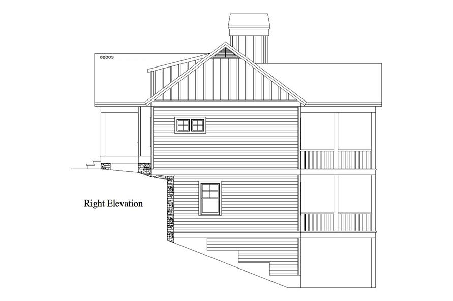 163-1060: Home Plan Right Elevation