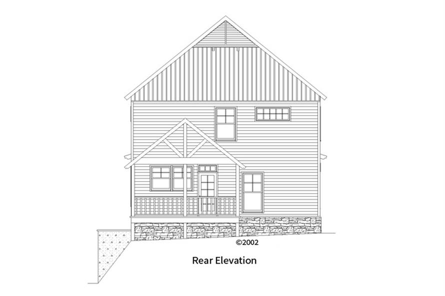 163-1061: Home Plan Rear Elevation