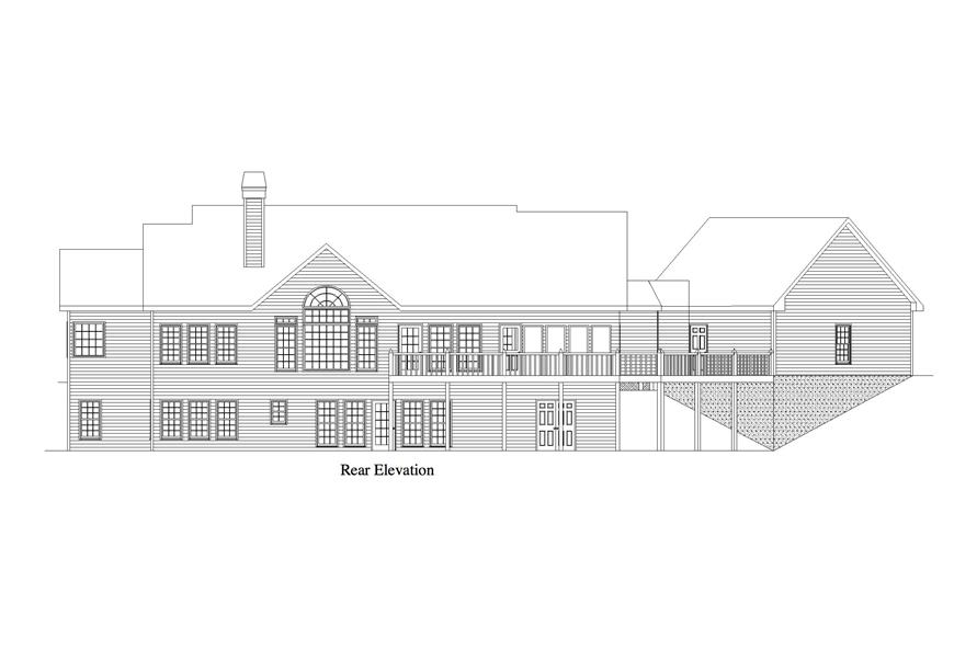 163-1062: Home Plan Right Elevation