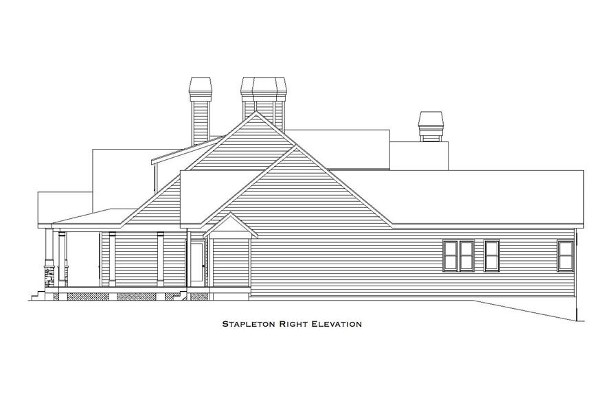163-1063: Home Plan Right Elevation