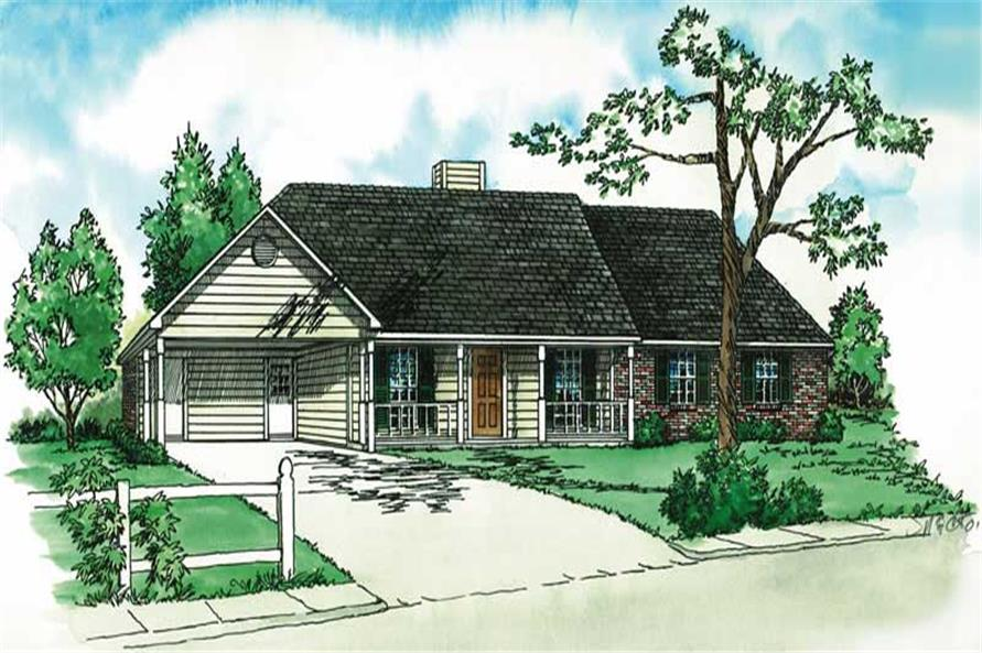 Main image for country house plan # 1739