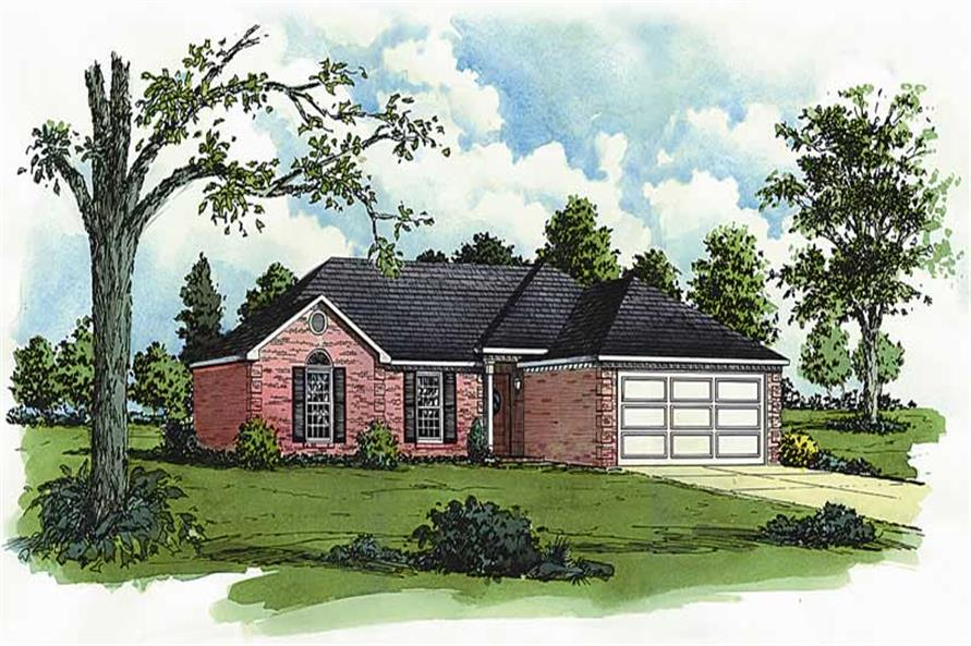 Main image for Traditional house plans # 1744