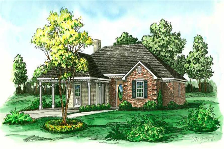 Main image for Country house plan # 1747