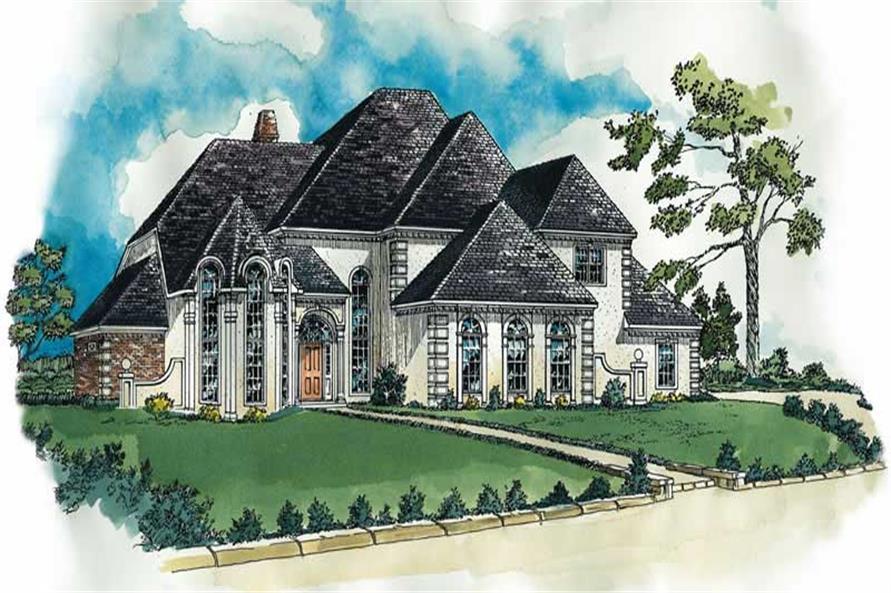 European houseplans RG3901 color rendering.