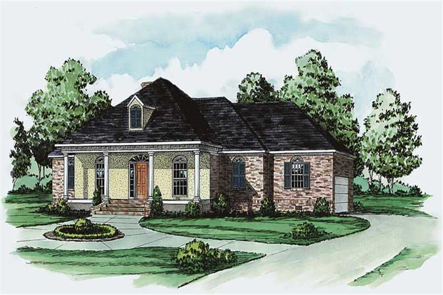Main image for traditional house plan # 1842