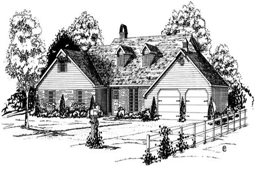 Main image for Country house plans # 1850