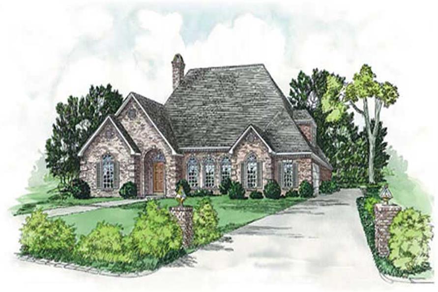 European Home Plans front elevation.