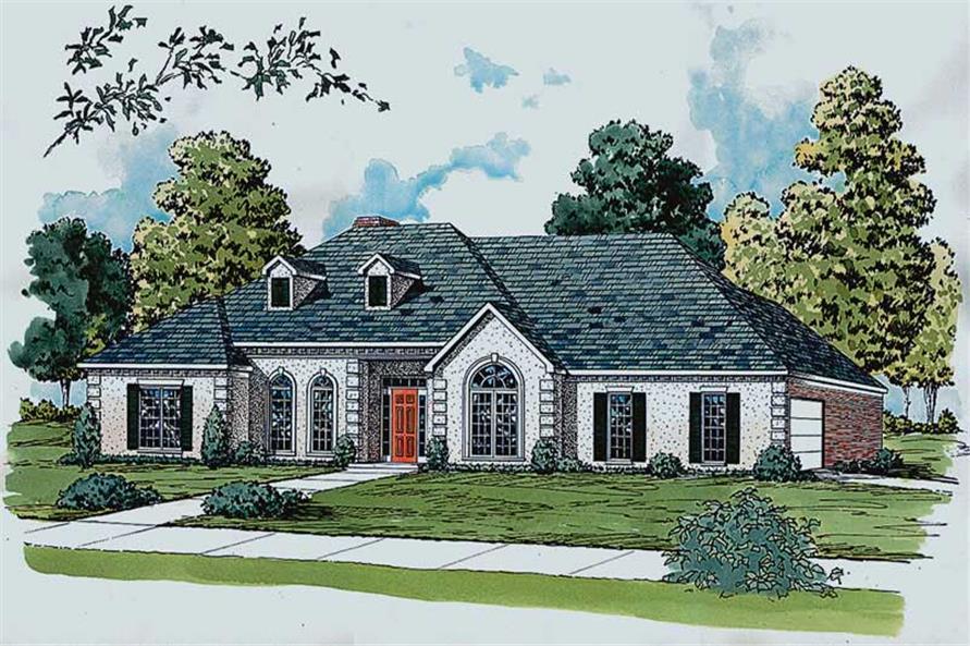 Main image for European house plans # 1815
