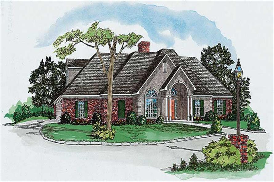 European houseplans color rendering.