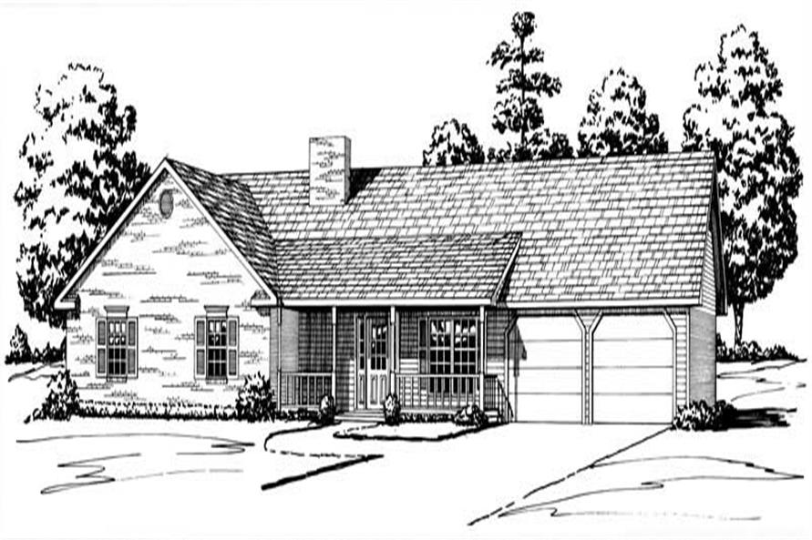 Main elevation image for Country houseplans # 1828