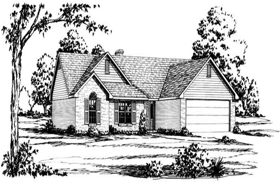 Main image for ranch home plan # 1829