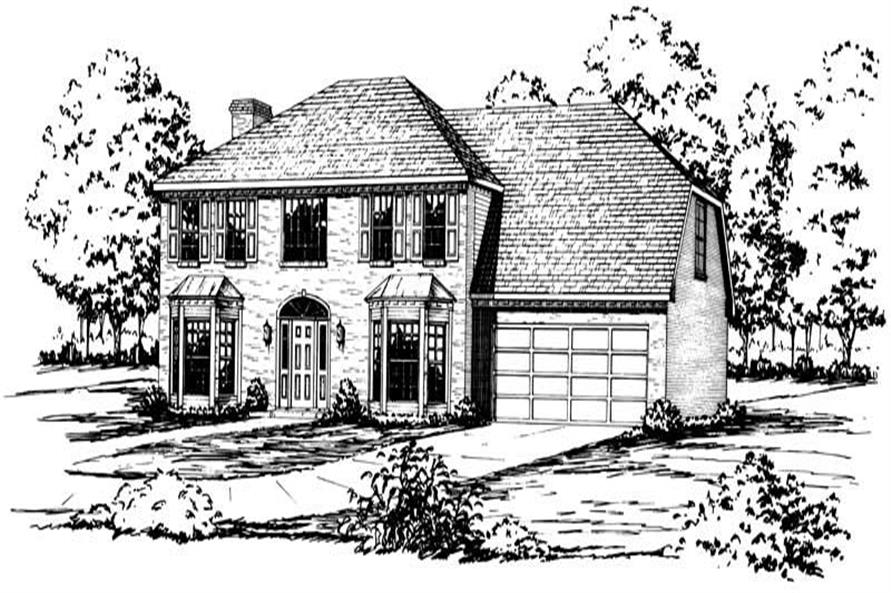 Main image for Colonial houseplans # 1898