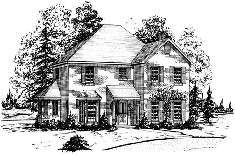 Main image for Country house plan # 1876