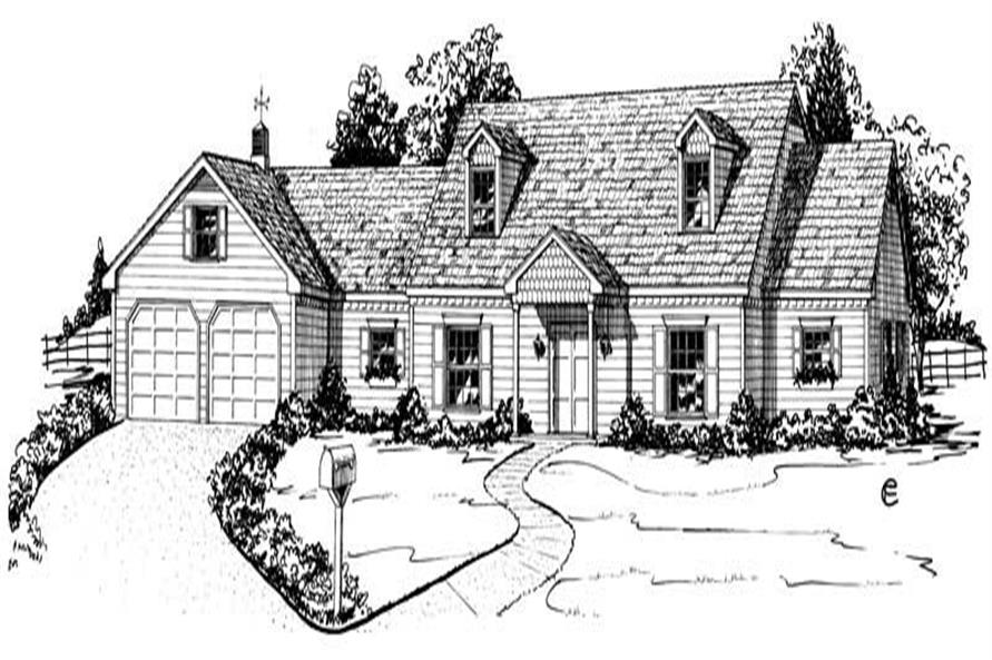 Main image for Country house plans # 1866