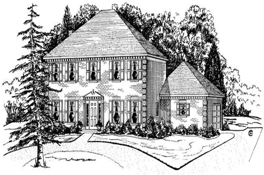 Main image for Georgian home plan # 1878