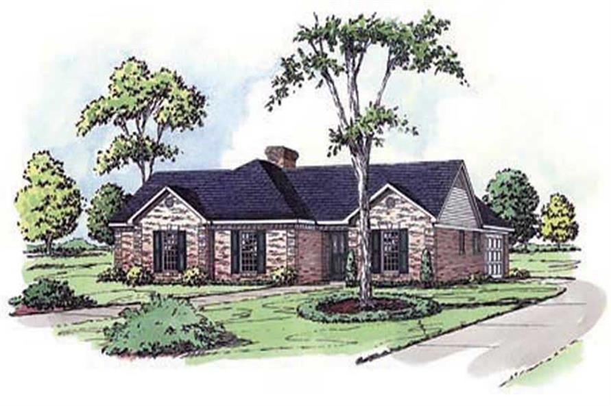 Main image for country home plans # 1808