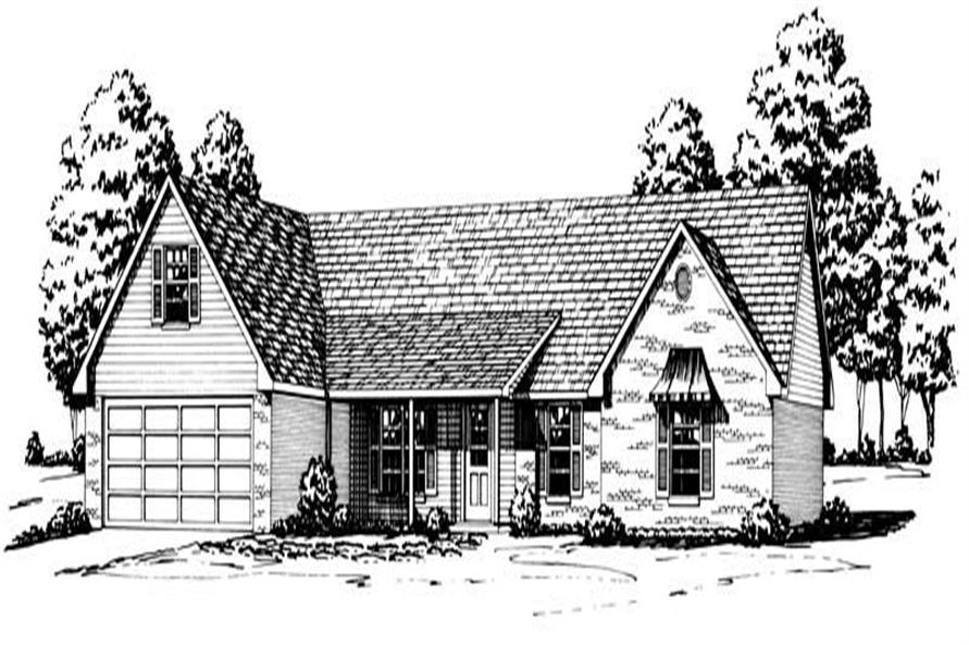 Country Houseplans front elevation.