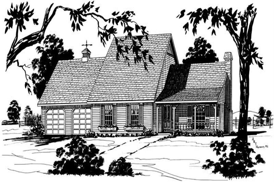 Main image for 1-1/2 Story Home Plans # 1784