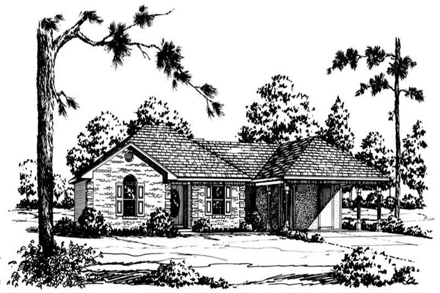 Main image for Ranch Homeplans # 1759