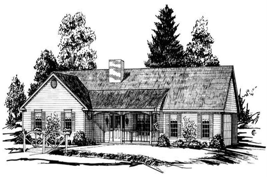 Main image for Traditional houseplan # 1785