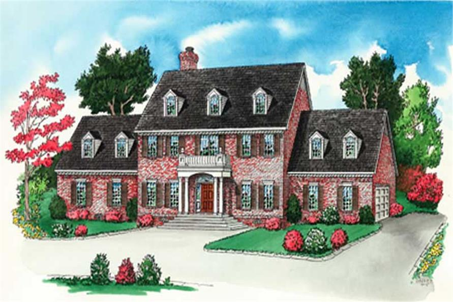 Traditional Home Plans front elevation.