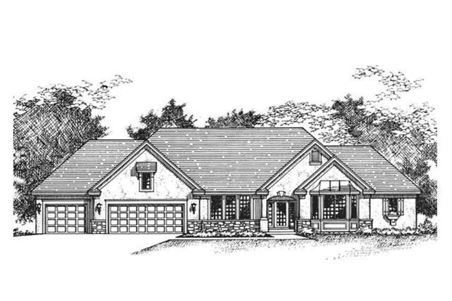 Ranch Home Plans CLS-3602 Front elevation image.