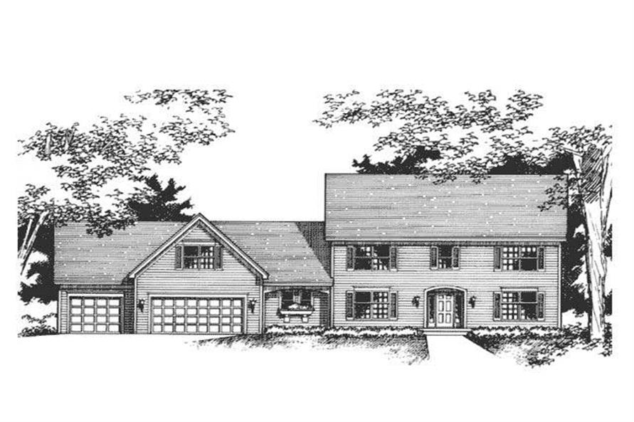 Front Elevation for Colonial Home Plans CLS-2607.