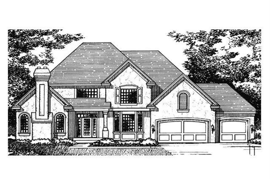 Front Elevation of European House Plans CLS-3000.