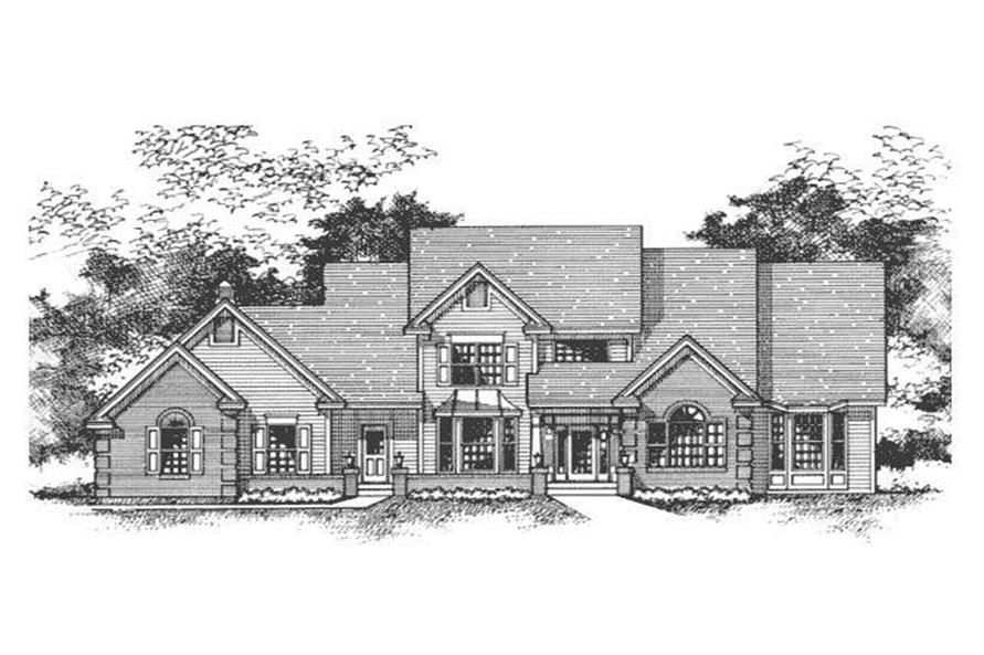 Front Elevation of Country Home Plans CLS-3101.
