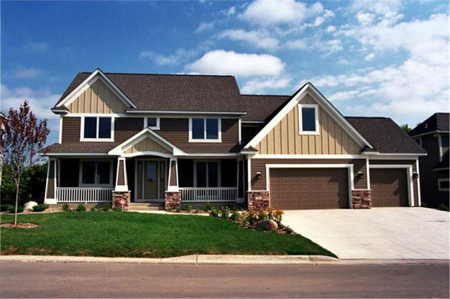 Color Photo Front elevation for Country Home Plans CLS-3608.