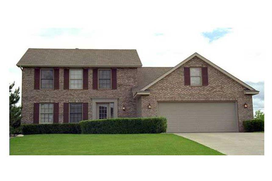 Traditional Homeplans CLS-1700 front elevation.