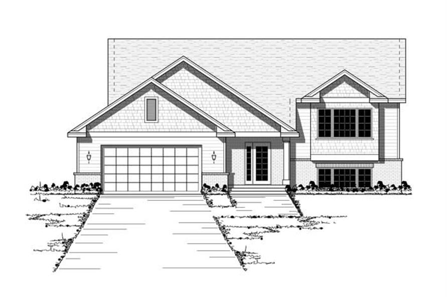 Country Home Plans CLS-1202 Front Elevation.