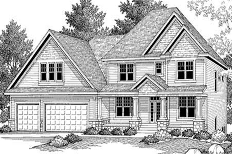 This color photo shows the front elevation of Country House Plans CLS-3222.