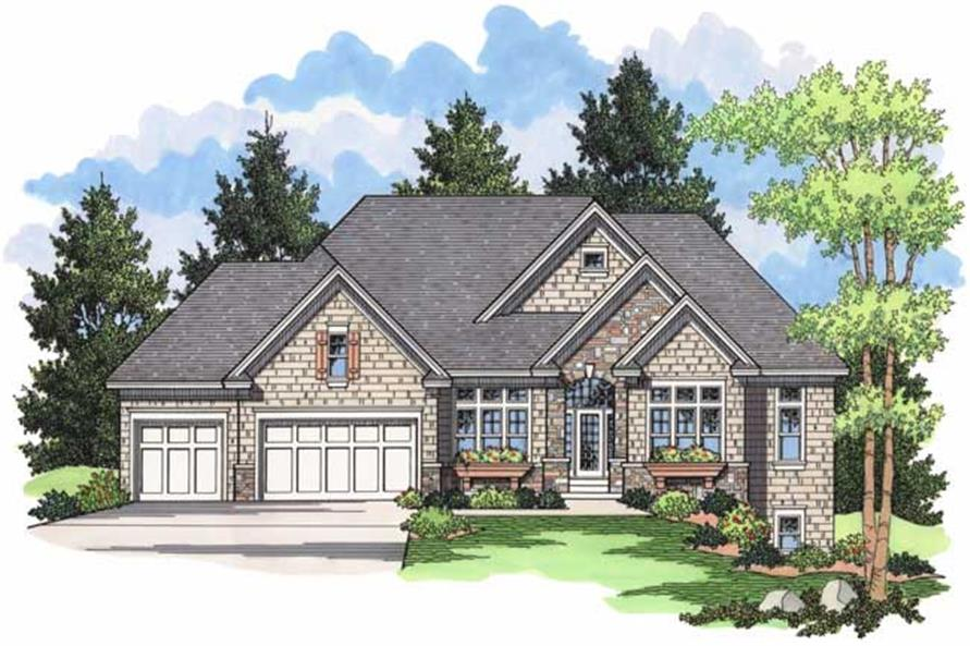 Front elevation for Country Houseplans CLS-3803.