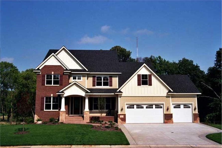 This image is the front elevation of country home plans CLS-3903.