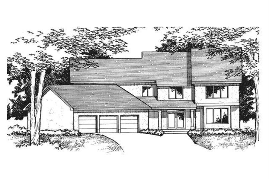 Front Elevation image for Country Home Plans CLS-3003.