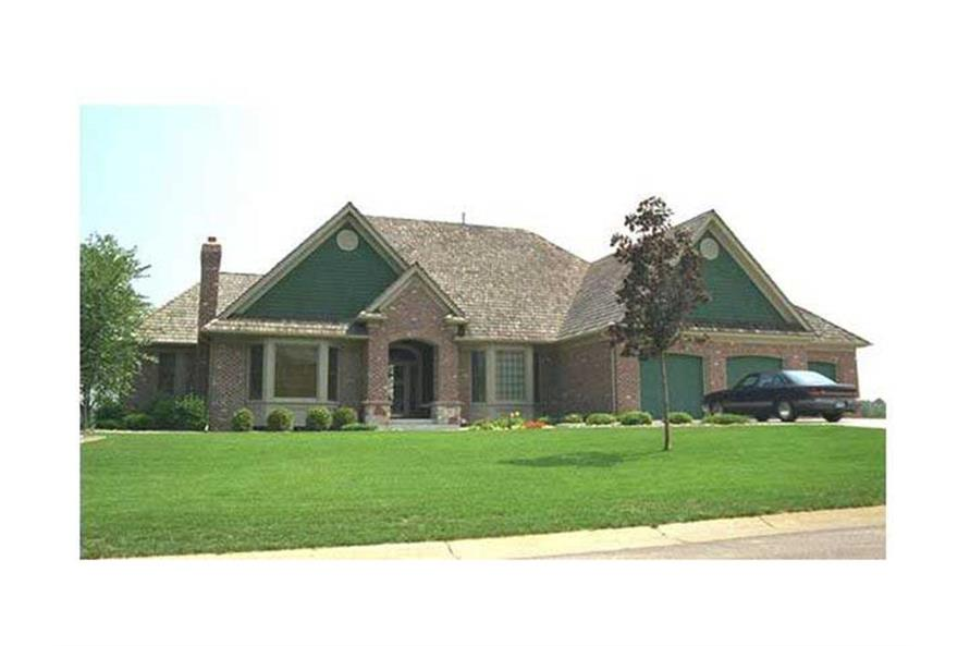 Front photo image of Ranch Home Plan #165-1122