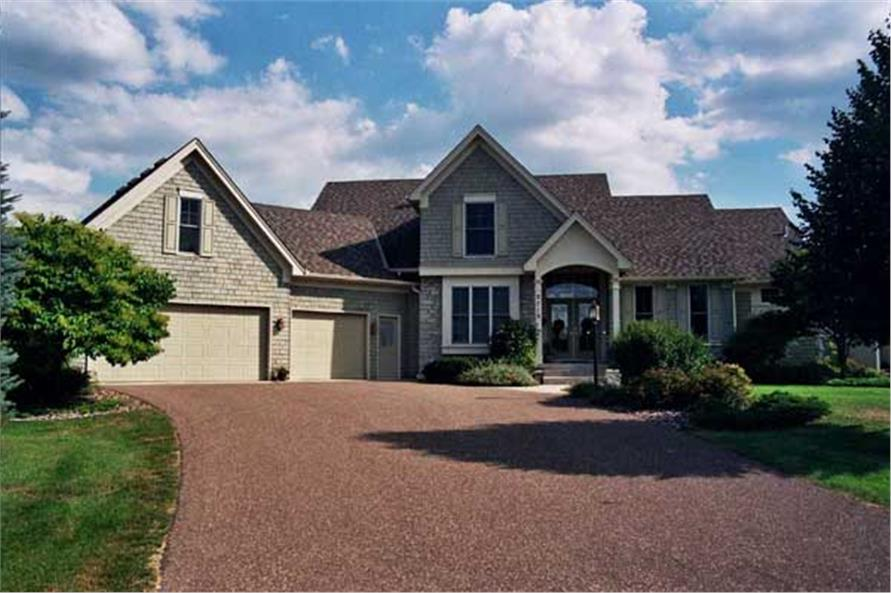 Front elevation for country home plans CLS-2400.