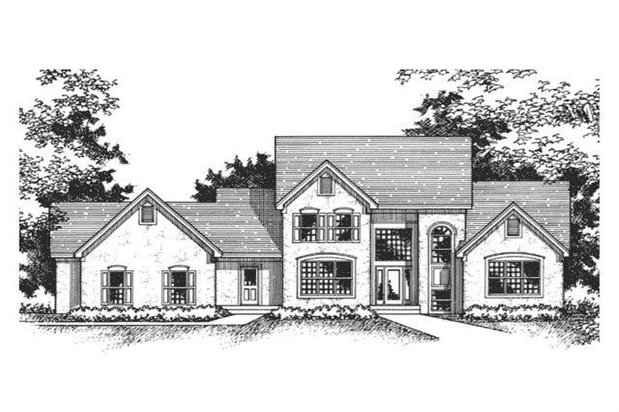 This image shows the front elevation of European Homeplans CLS-2900.