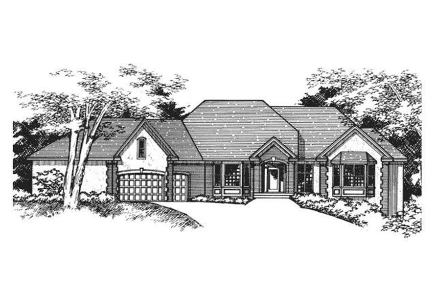 Front Elevation for European Homeplans CLS-3700.