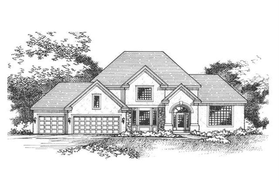 Front Elevation of European Homeplans CLS-2401.