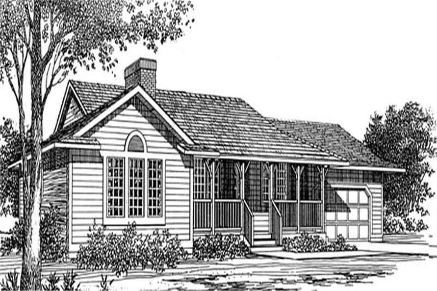Main image for house plan # 7054
