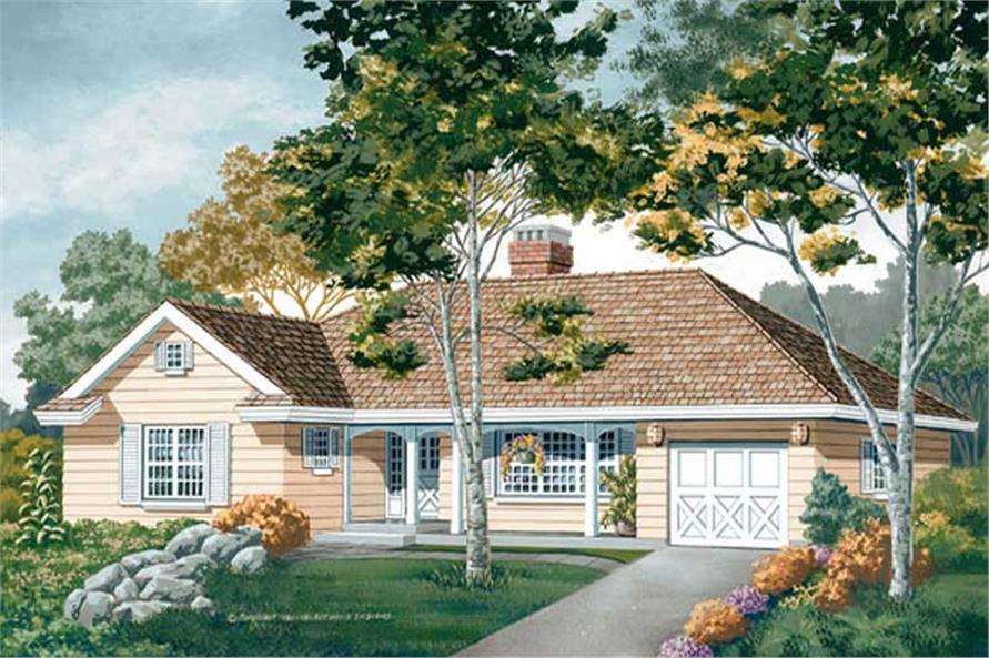 Main image for house plan # 7055