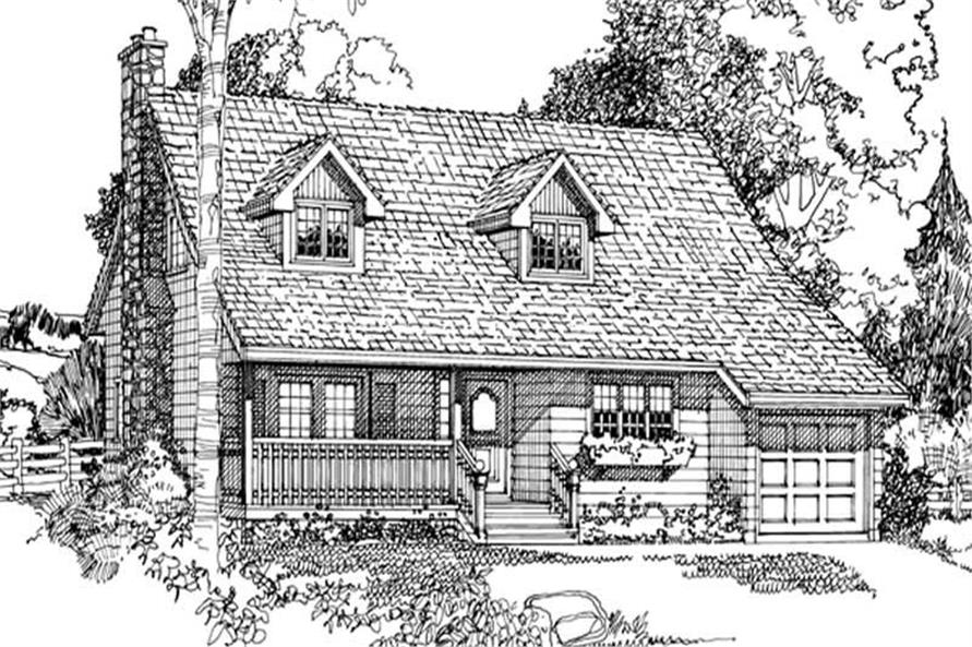 Main image for house plan # 7031