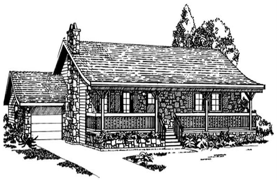 Main image for house plan # 7025