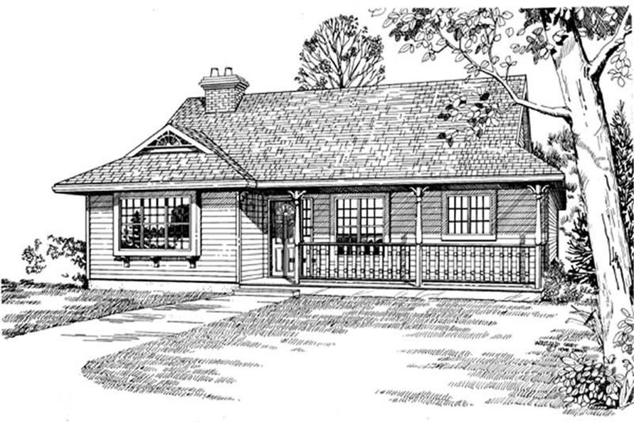 Main image for house plan # 7076